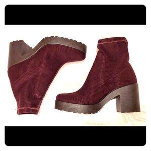 Top Shop Boots (Burgundy/Wine color)
